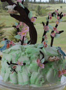 Apple blossom cake vertical outside cropped