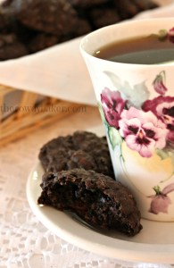 Chocolate oatmeal raisin cookies vertical watermark
