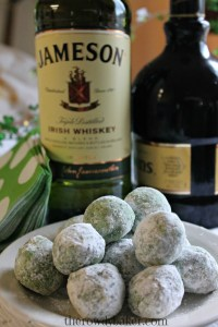 leprechaun balls vertical with booze