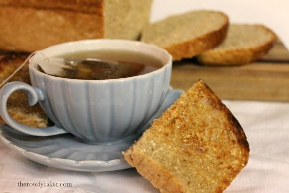 Braw Scottish Oatmeal Bread and tea The Rowdy Baker