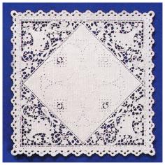 Basket Square Lace Paper Doilies by Royal Lace
