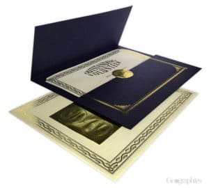 Metallic Blue Presentation Kit with Seals theroyalstore