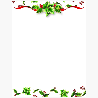 Holly and Ivy II Christmas Letterhead Geographics