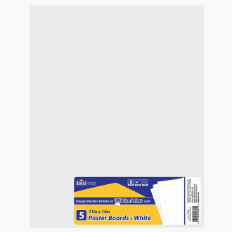 "Poster Board White 22""x28"" Royal Brites"