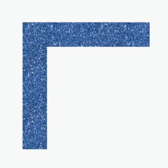 Poster Board Ultrabrite Blue Glitter Glam Frame L