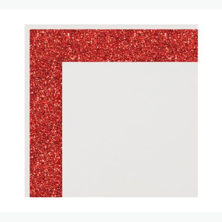 Ultra Brite Red Glitter Glam Frame Posterboar L
