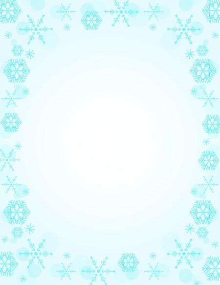 Blue Snowflake Christmas-Letterhead-Geographics