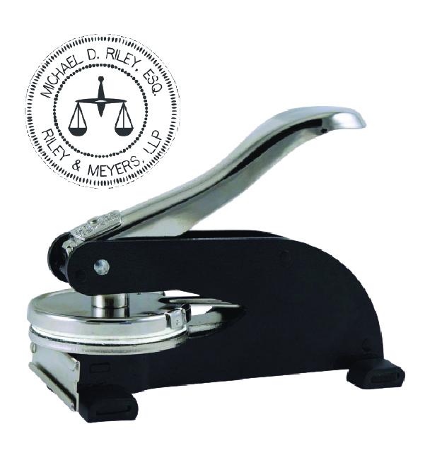 Black Desk Embossers 2 in diameter Seal