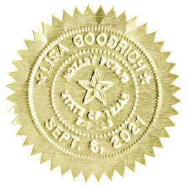 Starburst Gold Foil Seals for Round Embossers