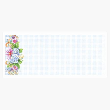 "Blue Floral Envelopes No.10 (4.12""x9.5"") Print on Demand"