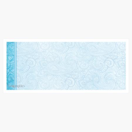 """Aqua Paisley Envelopes No.10 (4.12""""x9.5"""") Print on Demand"""