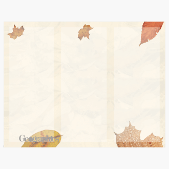 "Crushed Leaves Tri-Fold Brochures, 8.5""x11"" Print on Demand"