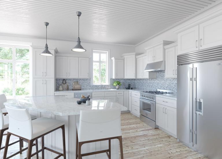 shaker kitchen cabinets prep cart the rta store southport white