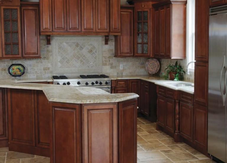 cheap kitchen cabinet sets moen pullout faucet pre assembled cabinets the rta store nutmeg twist