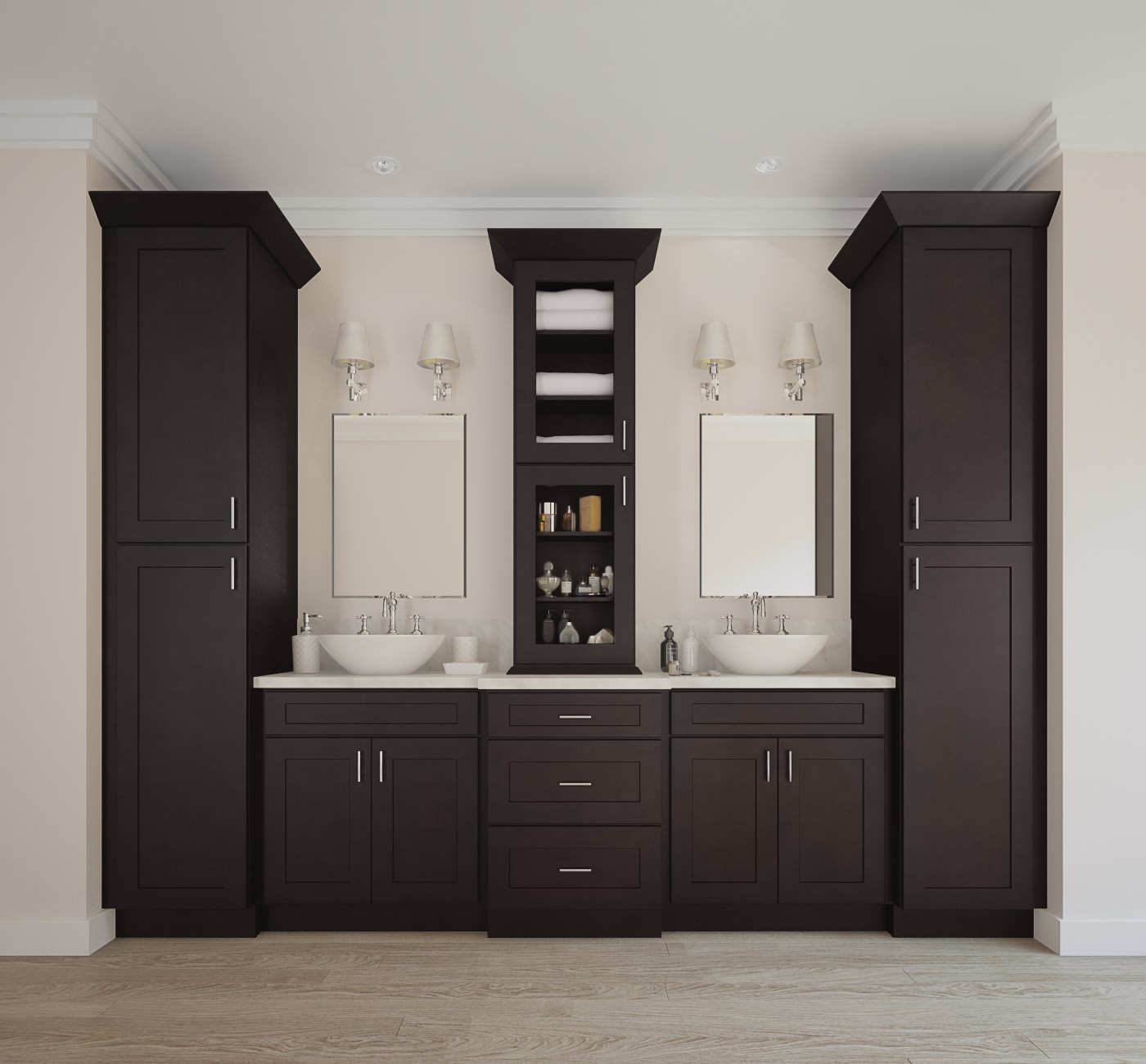 Brazilian Shaker  Ready to Assemble Bathroom Vanities  Cabinets  Bathroom Vanities  Vanities