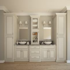 Kitchen Cabinet Shelf Inserts Retractable Faucet Signature Vanilla Glaze - Pre-assembled Bathroom Vanities ...