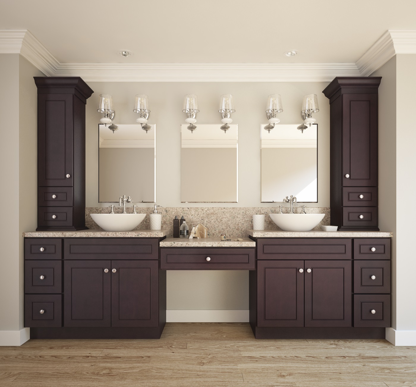 Espresso Bean  Ready to Assemble Bathroom Vanities  Cabinets