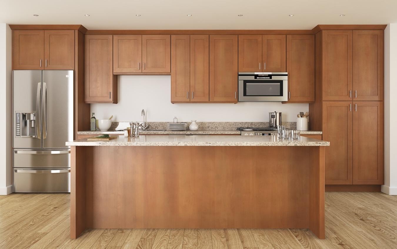 Pecan Wood Cabinets
