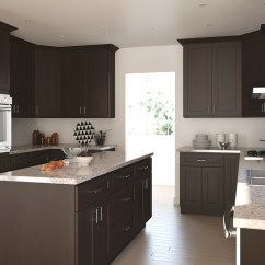 Chocolate Kitchen Cabinets With Glass Doors Dark Shaker Ready To Assemble More Views