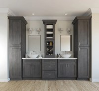 Natural Grey Shaker - Ready to Assemble Bathroom Vanities ...