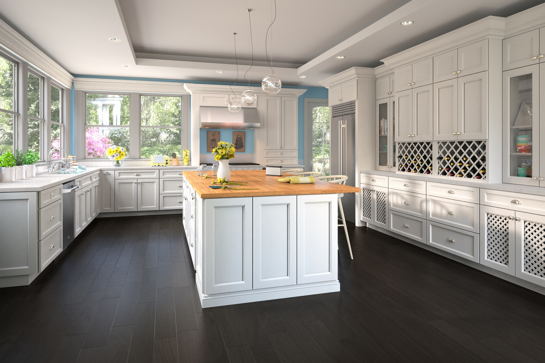 Best Kitchen Gallery: Providence White Pre Assembled Kitchen Cabi S The Rta Store of Pre Assembled Kitchen Cabinets on rachelxblog.com