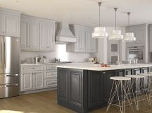 Roosevelt Dove Gray Pre-Assembled Kitchen Cabinets - The ...