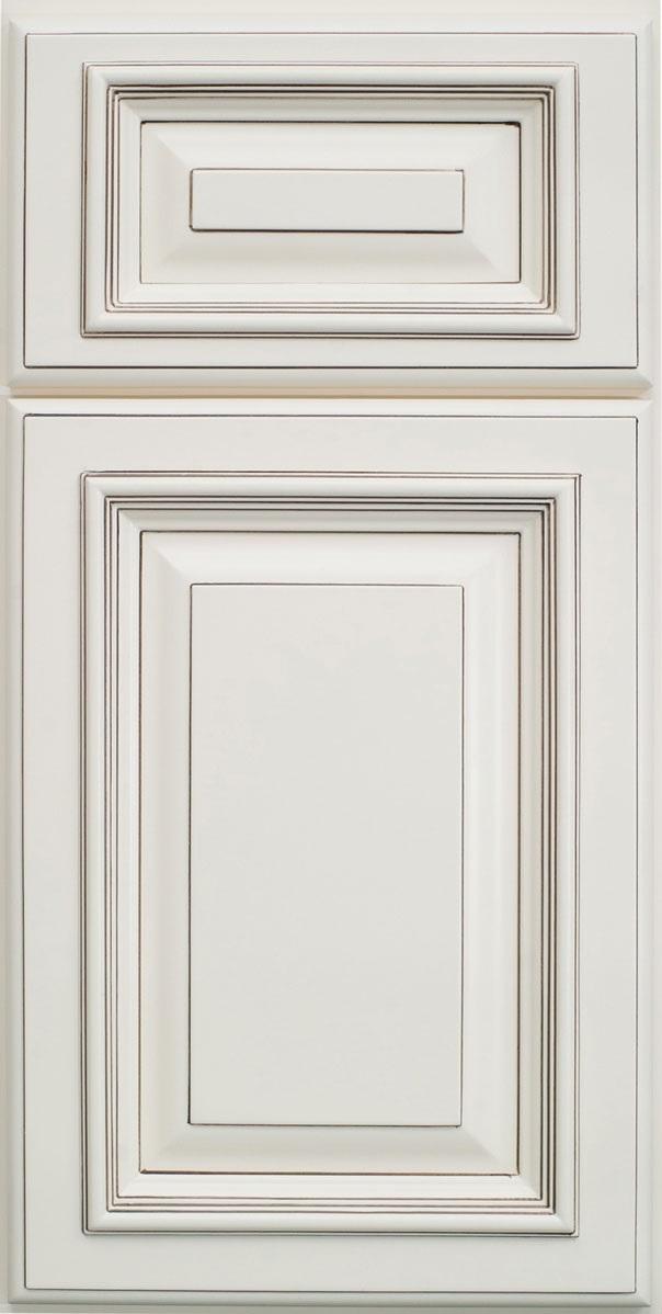 Signature Vanilla Glaze PreAssembled Kitchen Cabinets