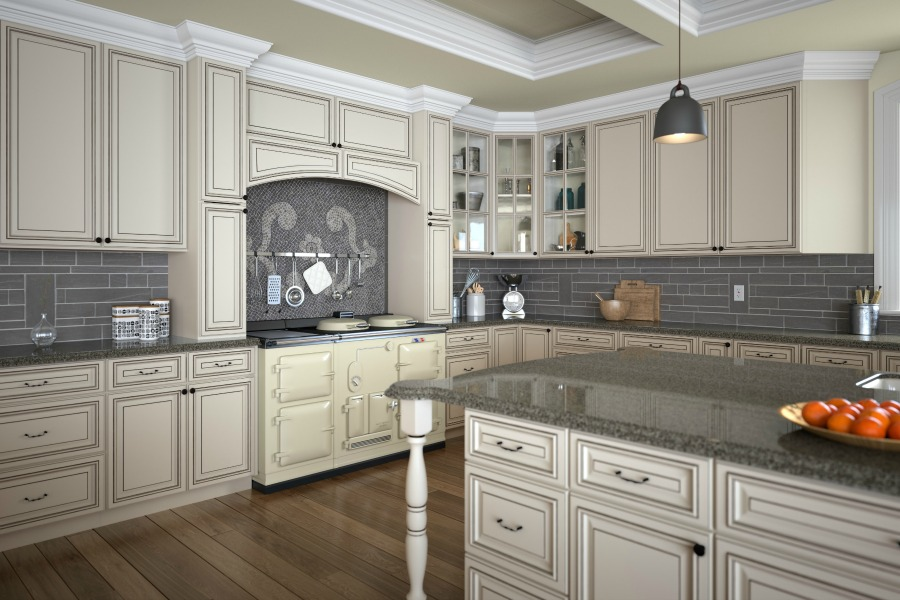 Signature Vanilla Glaze  Ready To Assemble Kitchen