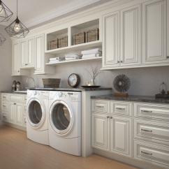 Signature Kitchen Warehouse Sale Sponge Vanilla Glaze Pre Assembled Laundry Room