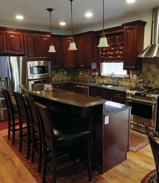 Newberry Merlot PreAssembled Kitchen Cabinets  The RTA Store