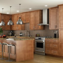 Kitchen Cabinets Wood Best Place To Buy A Sink Pecan Shaker Ready Assemble 2520shaker 252520shaker