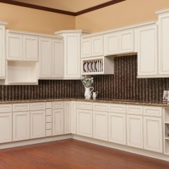 Antique White Kitchen Cabinets Crosley Island Brantley Glaze Ready To Assemble