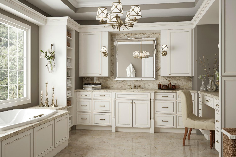 Brantley Antique White Glaze Ready To Assemble Kitchen