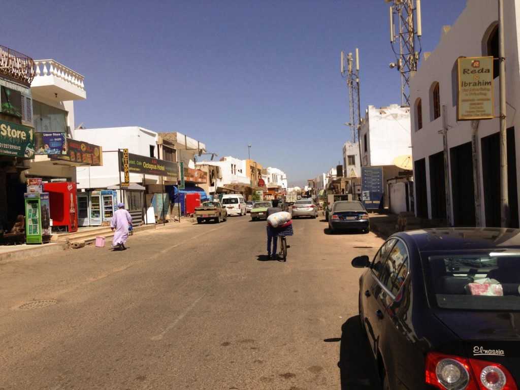 A street in Dahab, Egypt. Where my egyptian road trip began