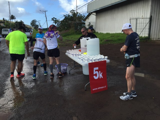 A typical water stop along the way. It is every 5k (3.1 miles)