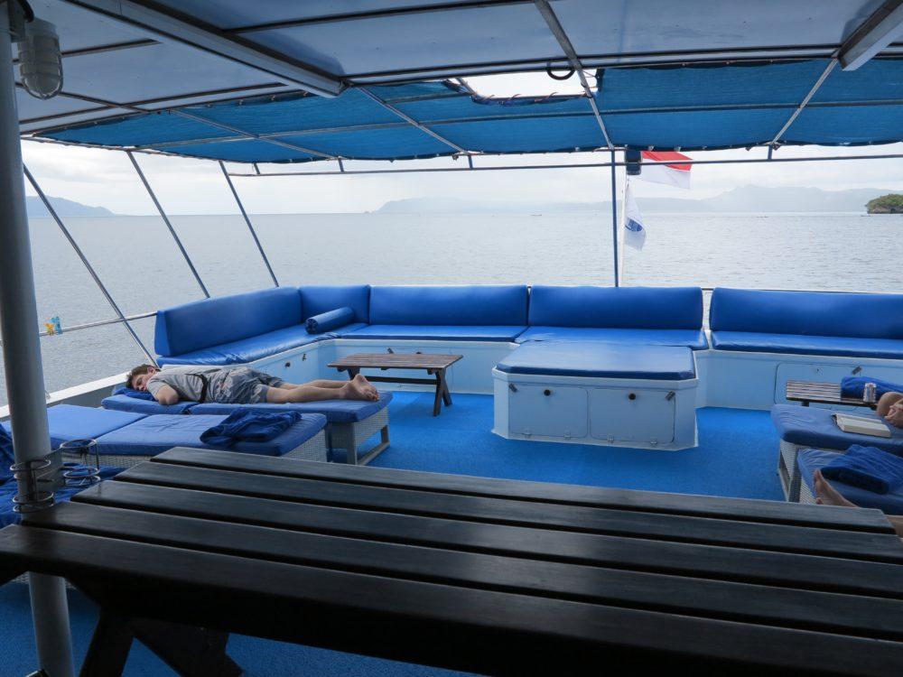 Raja Ampat Aggressor Review - upper deck