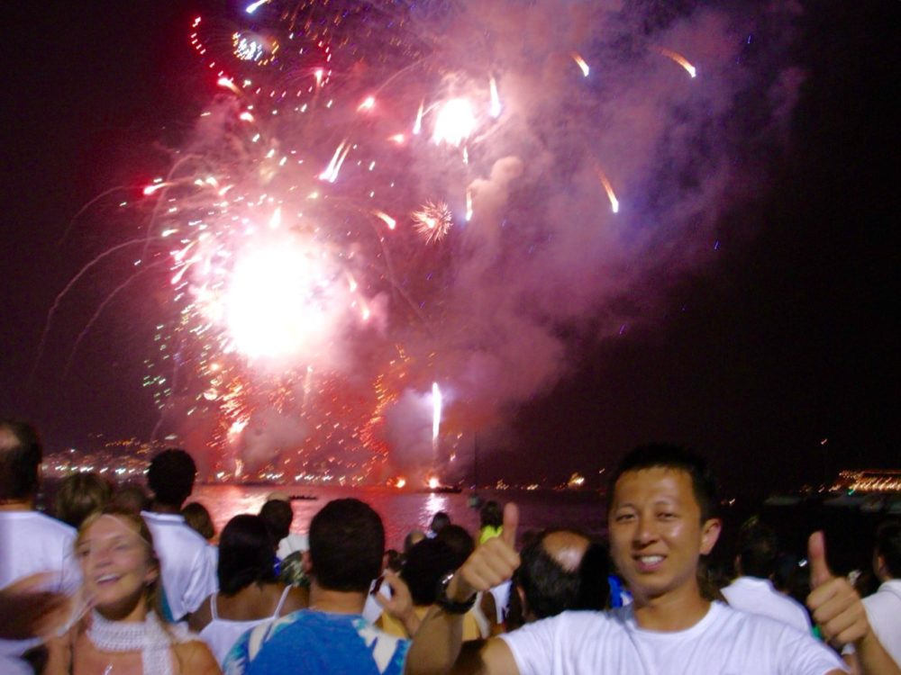 Brazilian New Year's Eve - Fireworks on Copacabana beach