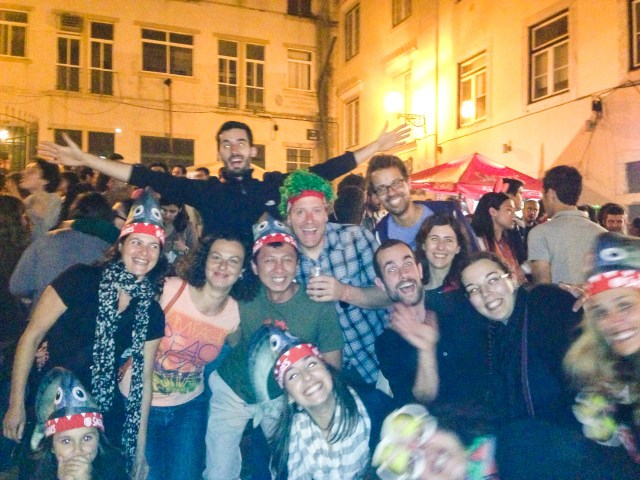 Lisbon Sardine Festival: a photo of us partying