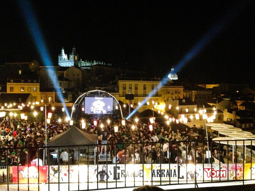 Lisbon Sardine Festival: A street concert
