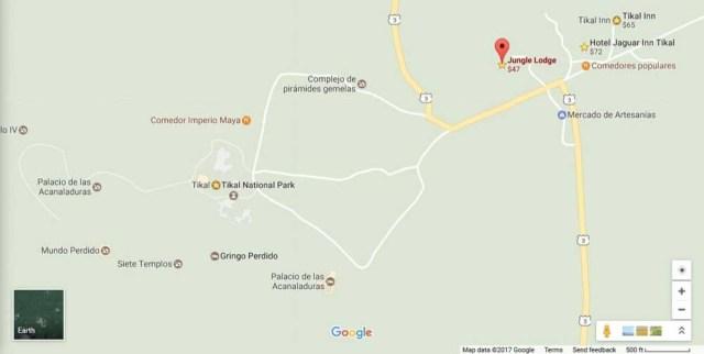 Jungle Lodge Hotel - Google map