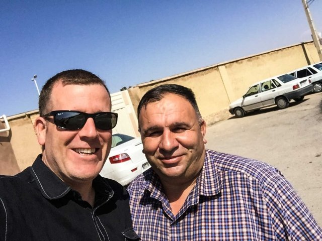 Guided Iran tour - Michael and his guide