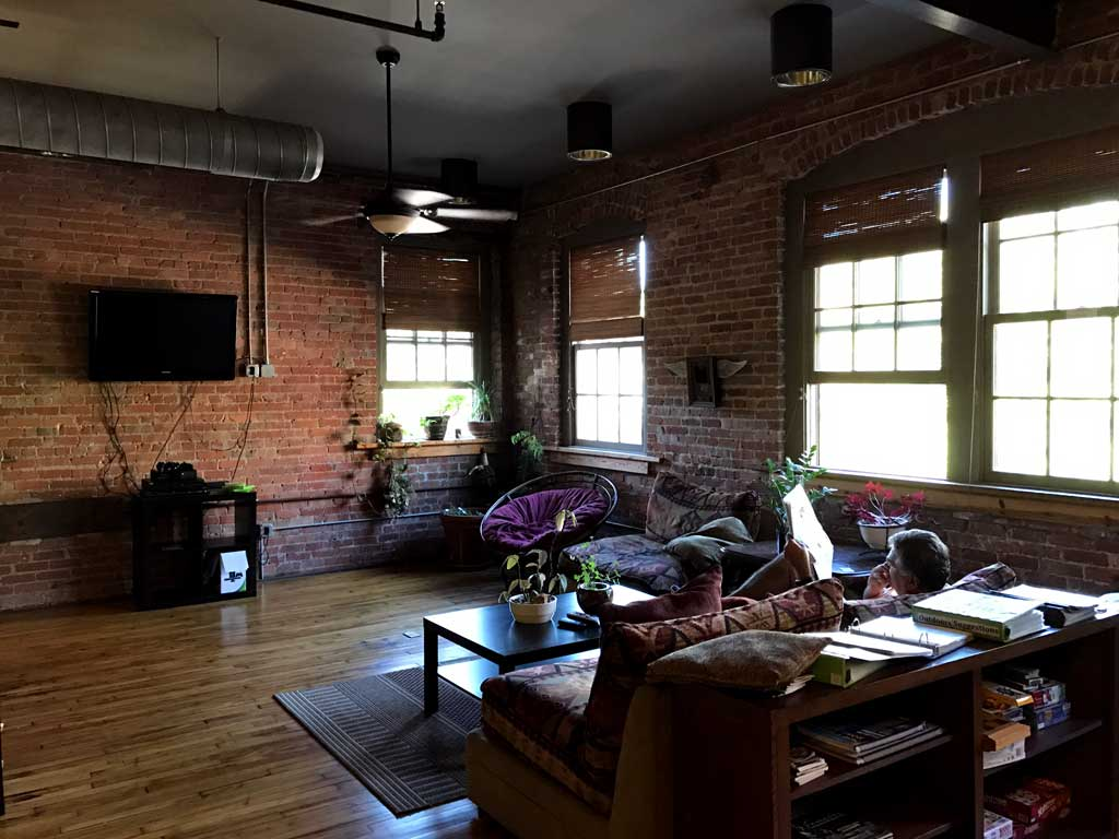 Sweet Peas Hostel Asheville - living room