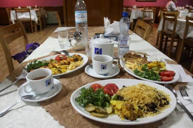 Hotel Eram Shiraz restaurant (photo credit Lets Go Iran)