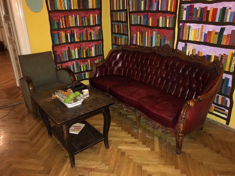 baroque hostel budapest old furniture