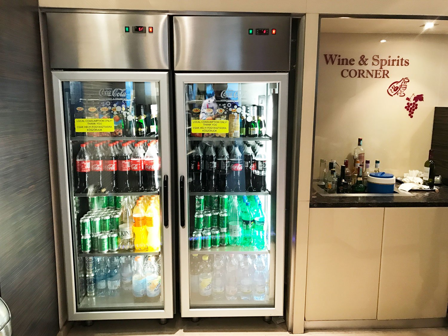 skycourt lounge budapest airport cooler