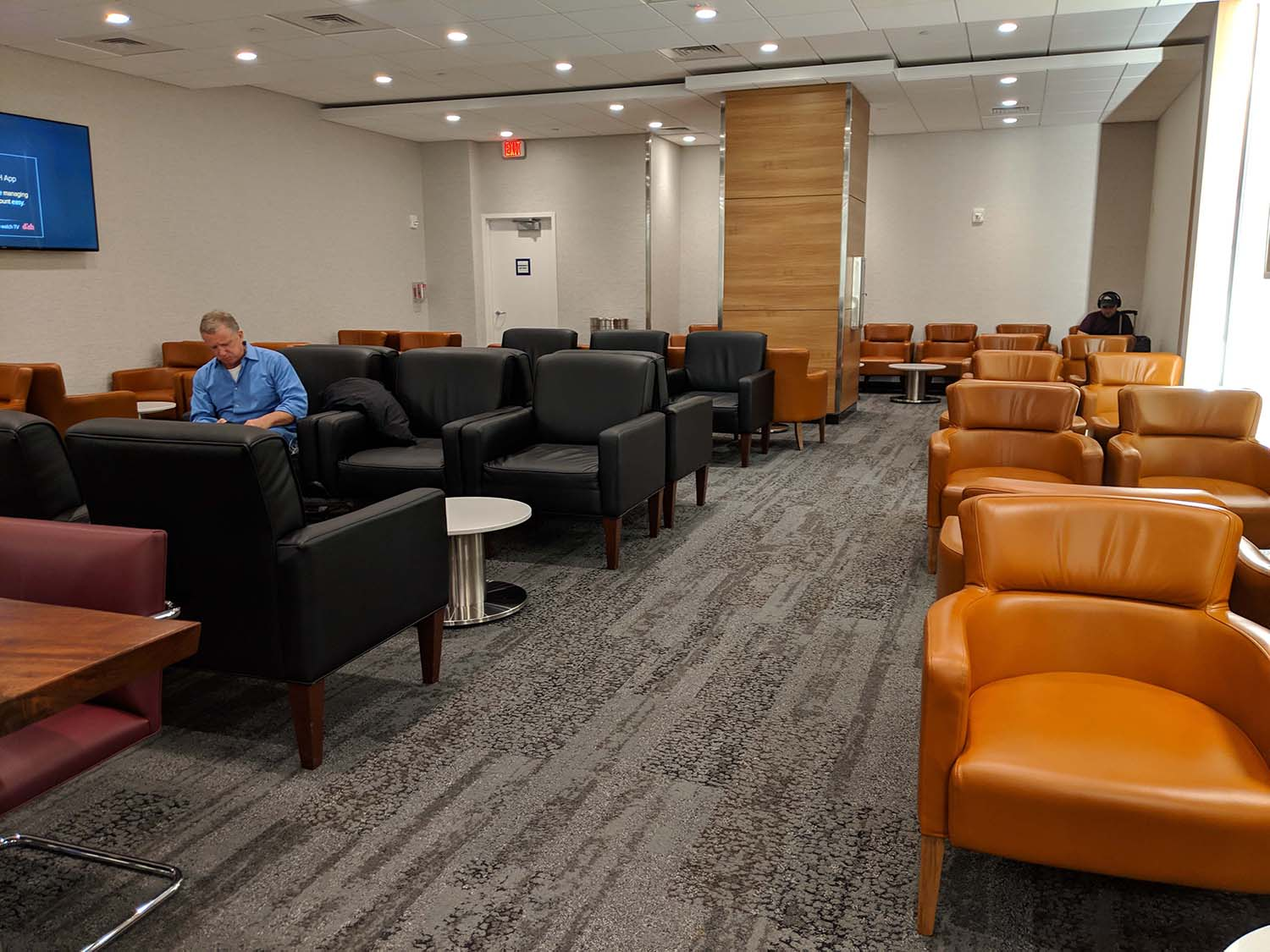 Delta Sky club in Fort lauderdale seating