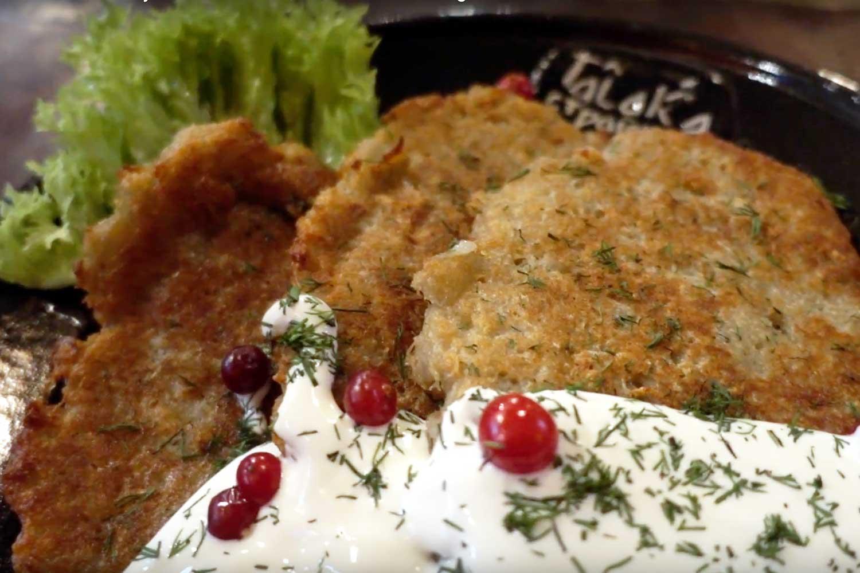 Belarus Food in Minsk Restaurants - draniki talaka