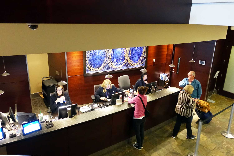Alaska Airlines Lounge Seattle front desk