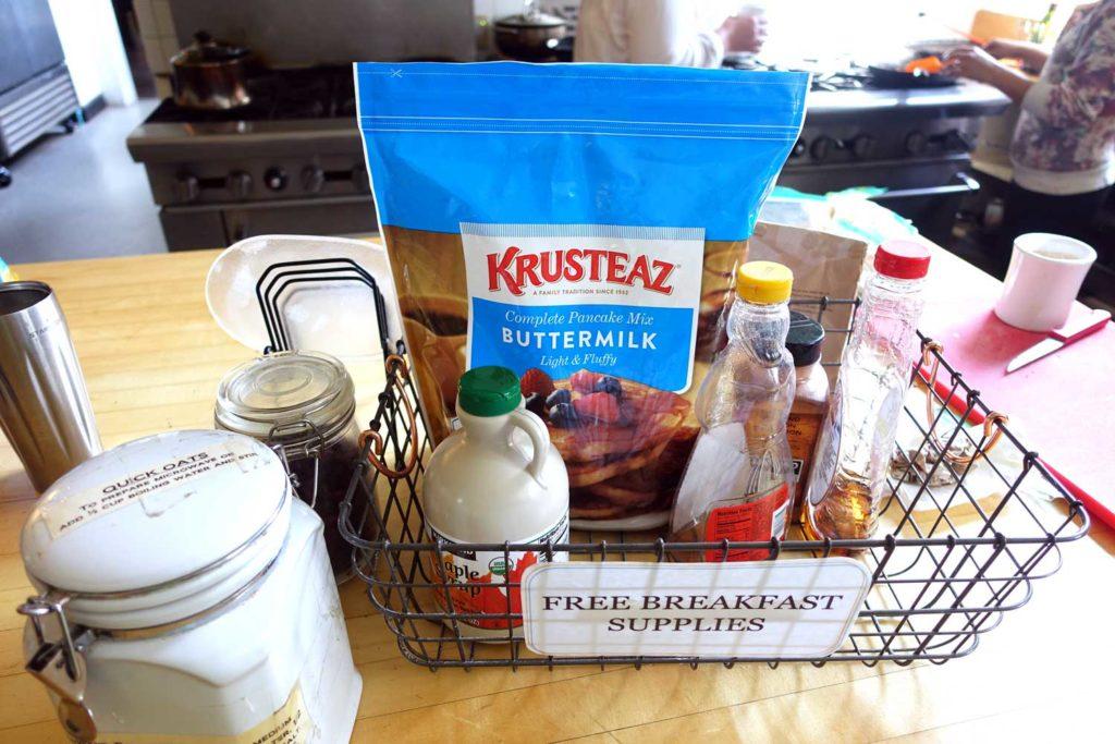 Marin Headlands Hostel free breakfast