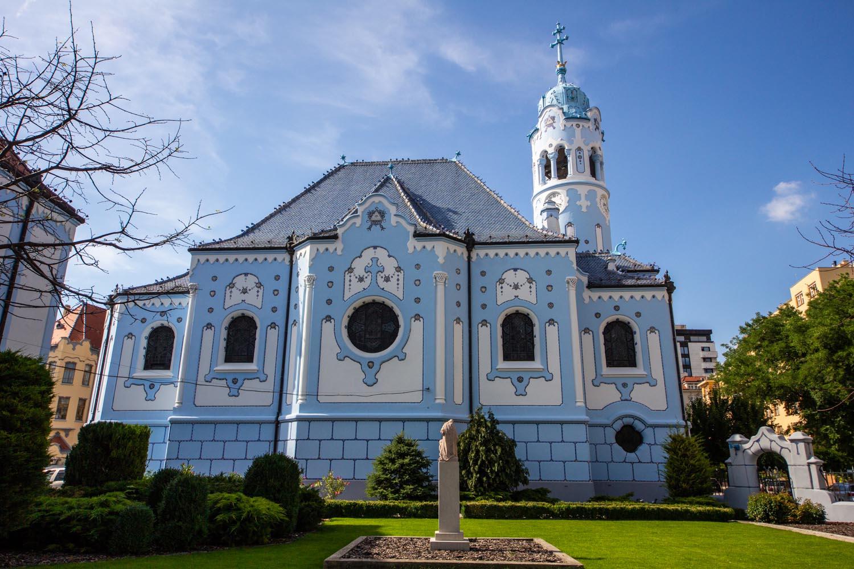 St. Elizabeth's church - the Little BLue Church in Bratislava